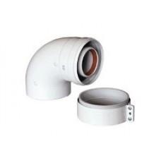 Отвод 90 град. диам. 60/100 мм (BAXI Италия)